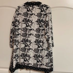 Soft Surroundings Jackets & Coats - Soft Surroundings White Black Kimono Topper XL